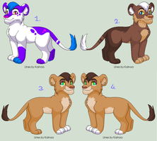 Lion cub Adoptables - CLOSED by PoonieFox