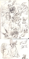 Pokemon Doodles by ArtistsBlood