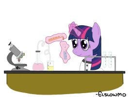 Twilight Doing Science (Drawing Request) by Elslowmo
