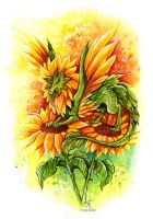 Sunflower Fairy Dragon by TrollGirl