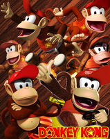 Donkey Kong - Diddy Kong by DENDEROTTO