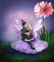 fairy with a flying cat by Lubov2001