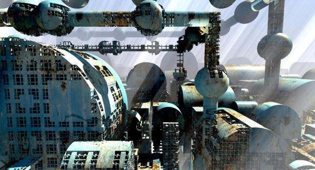 Rusted Industrial Complex by HalTenny