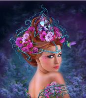 Flower queen. Stock illustration by AlenaLazareva