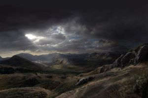 New Anchorage Matte Painting by Jacklionheart