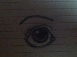 My Attempt At A Humanish Eye by WoodSong44