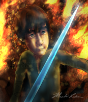 Hiccup's Quest - Hiccup Readies to Duel by masterrohan