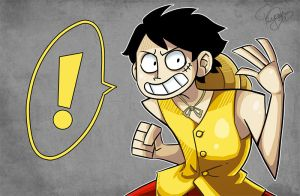 Monkey D. Luffy by SkullShrooms