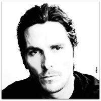 Christian Bale:Black and White by Eat-Sith