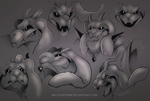 Asriel sketches by Ink-Leviathan