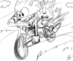 Gotta go fast.. by Blue-Chica