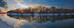 SnowyDelTAsunSet by justinmatthew