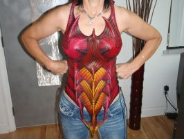 Female Dragon Corset Front by Red-Dragon-Lord
