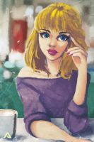 Coffee Shop Love by Andreanable