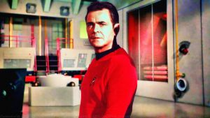 James Doohan Scotty in Engineering by Dave-Daring