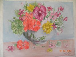 Mothers flowers by paula-the-cat