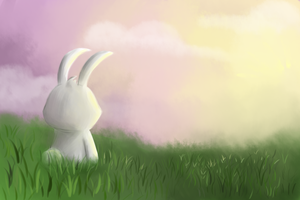 Lonely Easter Bunny by poloisindahouse