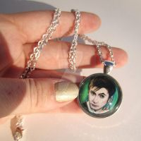 The 10th Doctor Pendant Necklace by TheInklingGirl