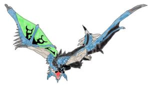Azure Rathalos by Icedragon300