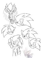 Sonic Doodles 3 by PlatinumxRose