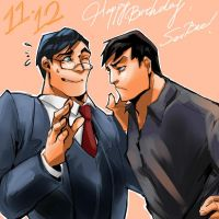 Clark and Bruce by Meex99