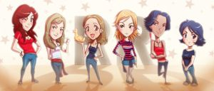 Red ribbon girls by ARMYCOM