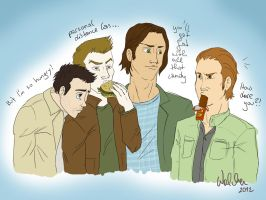 supernatural crew free will by NashiHoshi