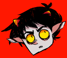 karkat's face by punpatrol