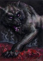 Fenrir Sketch Card - Kate Bradley by Pernastudios