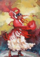 Solar flamenco dance 21-2008 by renatadomagalska