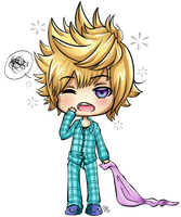 KH: Sleepy Roxas Chibi [ART-TRADE] by Anuyasha