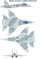 Sukhoi T-10  Su-27 Flanker-A prototype by bagera3005