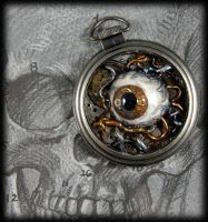 Eye am Watching you... Pocket Watch Necklace by NeverlandJewelry