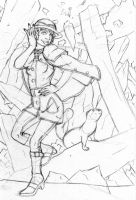 Crystal Cave Rough Sketch by ibroussardart
