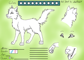 Ref. Sheet for wolves by NinaTheWolf