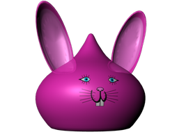 Pink Bunny Slime by StrikeFear13