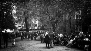 Refugees in Berlin by MichiLauke