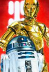 Star Wars portraits:The Droids by vividfury