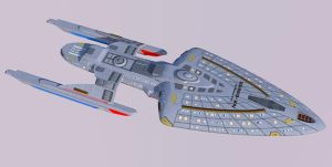 Star Trek Voyager: Intrepid Class Prototype 3 by calamitySi
