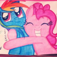 Rainbow Dash and Pinkie Pie :3 by Whiskers-the-Cat