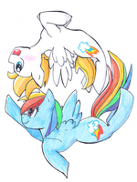 Radiate Zoom and Rainbow Dash by sqeakii00