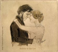 Rochester and Jane Eyre by LizDouceFolie