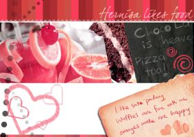 Postcards - Hernisa likes food by dom90nic