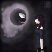 Elizabeth and Gastly by LadySilvie