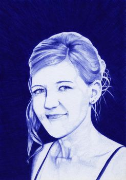 Ballpoint Pen Drawing Scanned Version by nobii
