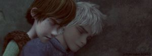 Hiccup and Jack Sleeping by jellybreaker