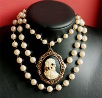 Zombie Bridal necklace by Pinkabsinthe