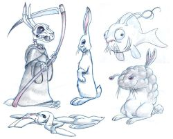 rabbits rabbits everywhere by borogove13