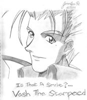 Is That A Smile...Vash The- by Halffull