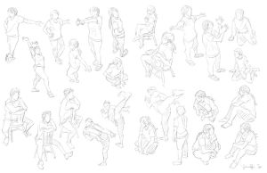 Figure/Pose Studies 2 by spicyroll